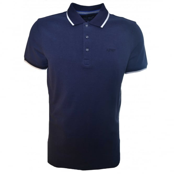 Armani Jeans Men's Navy Blue Regular Fit Polo Shirt