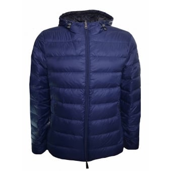 Armani Jeans Men's Navy Blue Reversible Puffer Jacket