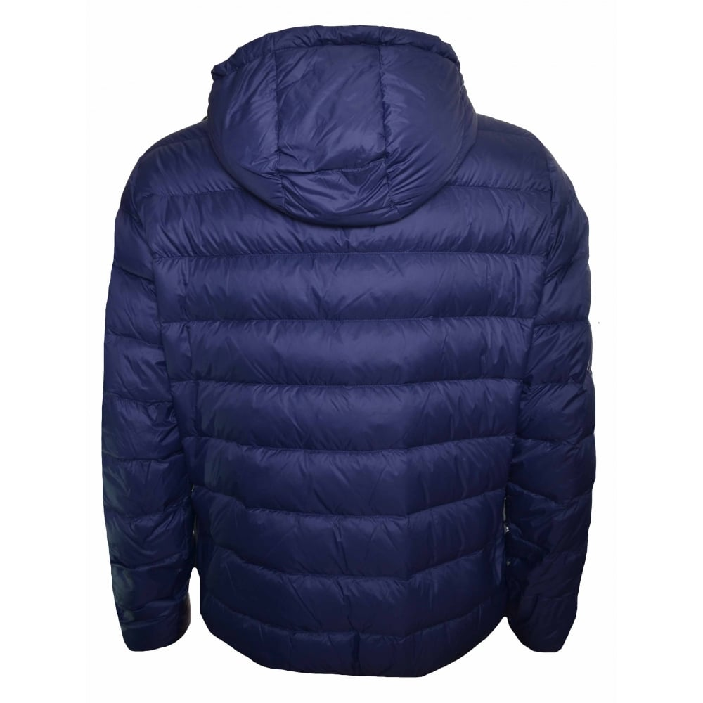 multiple colors half off online store Men's Navy Blue Reversible Puffer Jacket