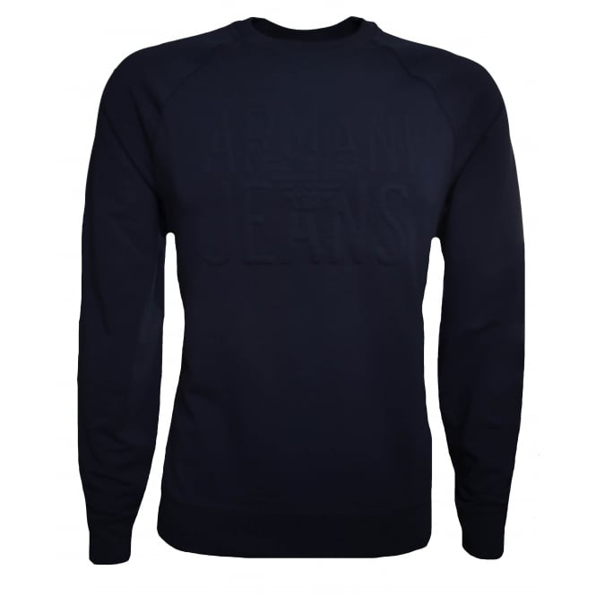 Armani Jeans Men's Navy Blue Sweatshirt