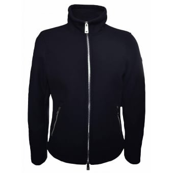 Armani Jeans Men's Navy Blue Wool Jacket