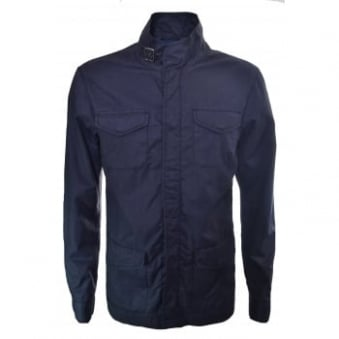 Armani Jeans Men's Navy Blue Zip Up Jacket