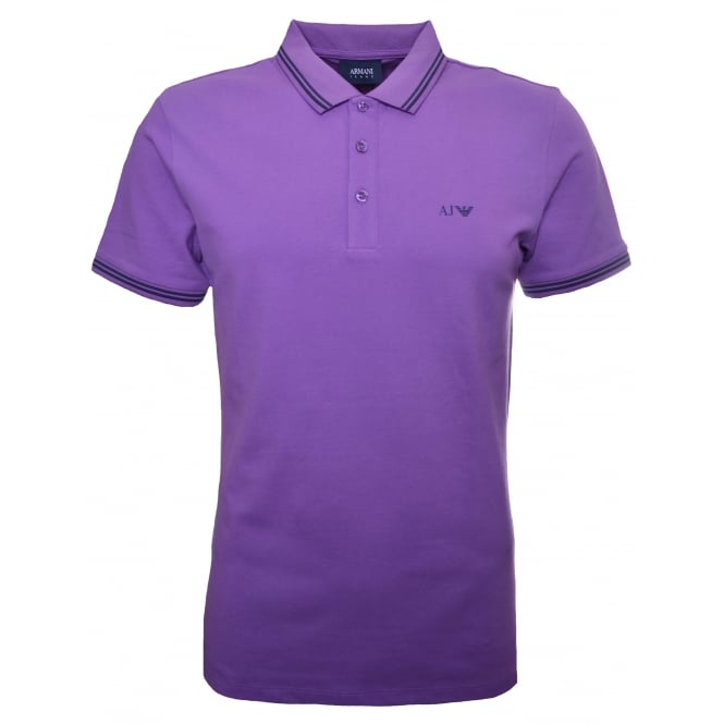 Armani Jeans Men's Purple Polo Shirt