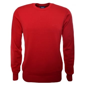 Armani Jeans Men's Red Jumper