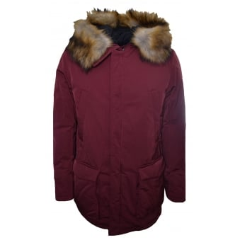 Armani Jeans Men's Red Parka