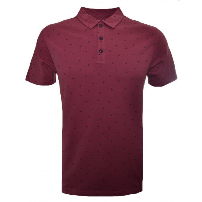Armani Jeans Men's Red Polo Shirt