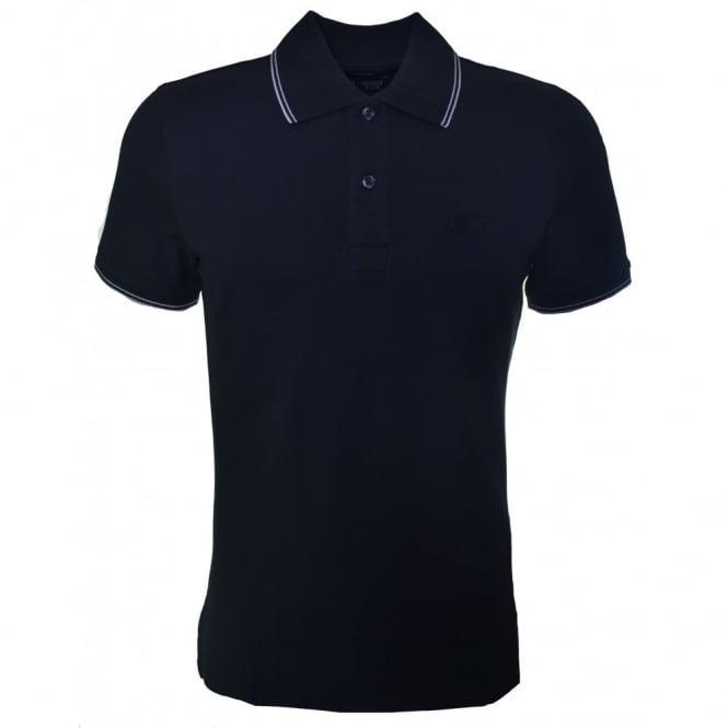 9284d2b1 Men's Slim Fit Black Polo Shirt
