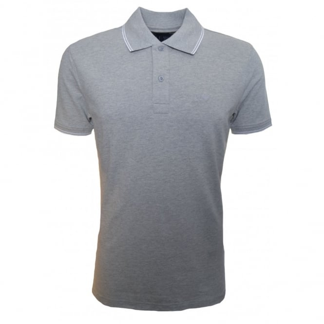 Armani Jeans Men's Slim Fit Grey Polo Shirt