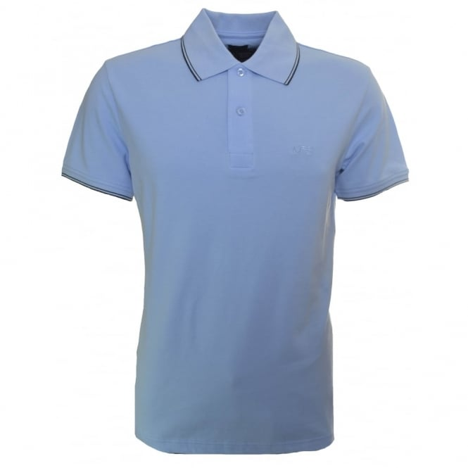 Armani Jeans Men's Slim Fit Light Blue Polo Shirt