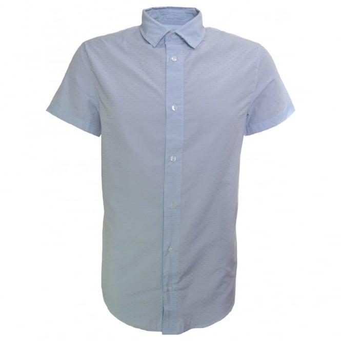 7d57e81f Armani Jeans Armani Jeans Men's Slim Fit Light Blue Short Sleeve Shirt