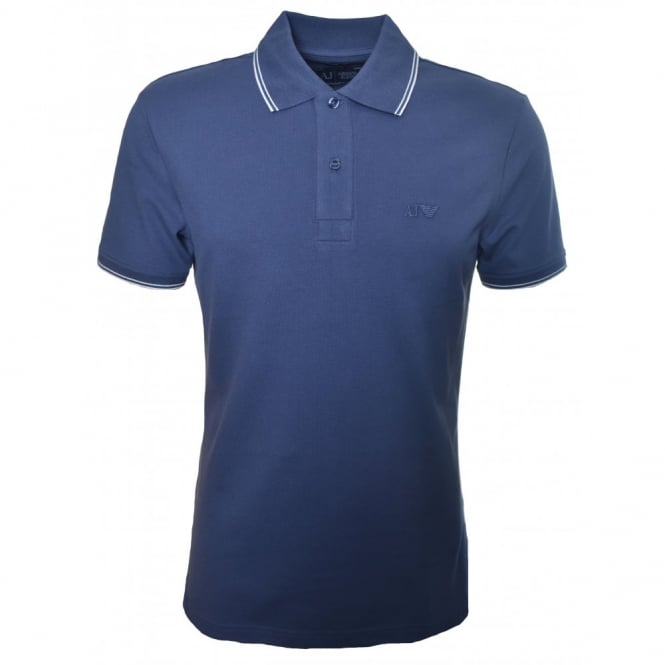 Armani Jeans Men's Slim Fit Navy Blue Polo Shirt
