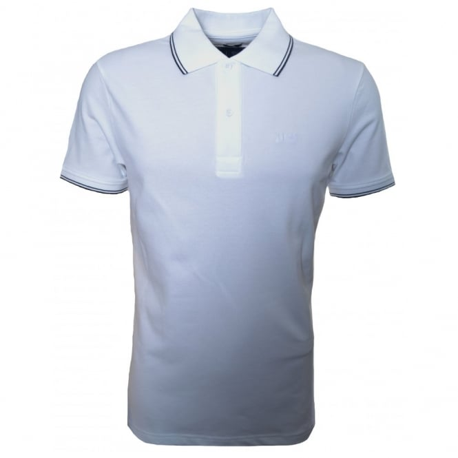 Armani Jeans Men's Slim Fit White Polo Shirt