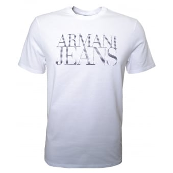 Armani Jeans Men's White Crew Neck T-Shirt