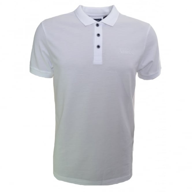 Armani Jeans Men's White Polo Shirt