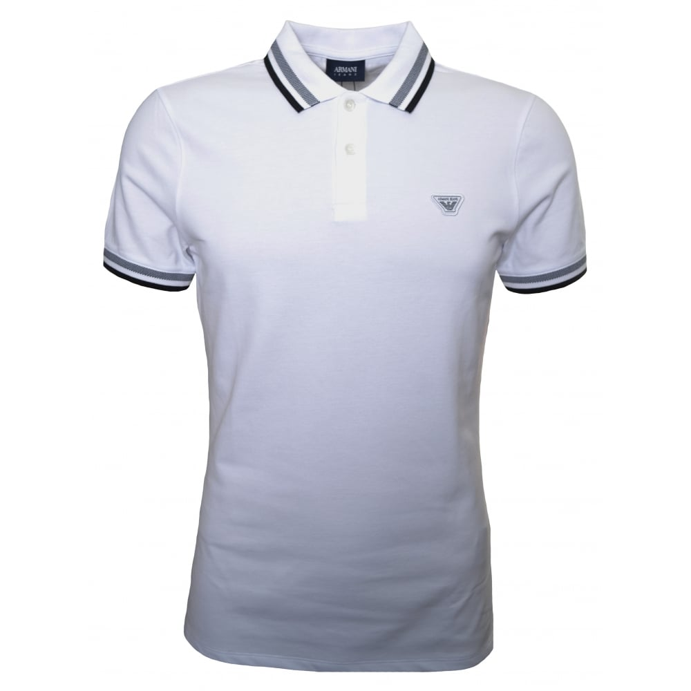 Armani Jeans Men  039 s White Polo Shirt d755c0f7e