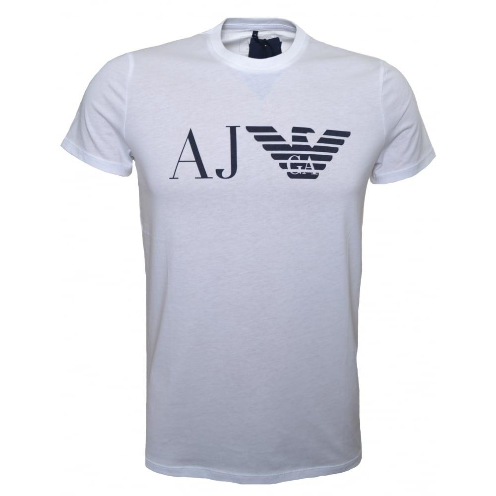 Shirt Men's T Printed Armani White Jeans n0vm8ONw