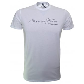 Armani Jeans Men's White T-Shirt