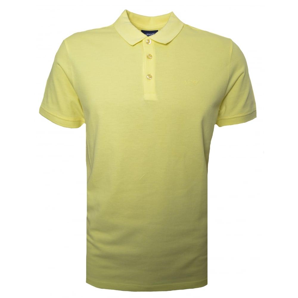 Armani Jeans Mens Yellow Polo Shirt