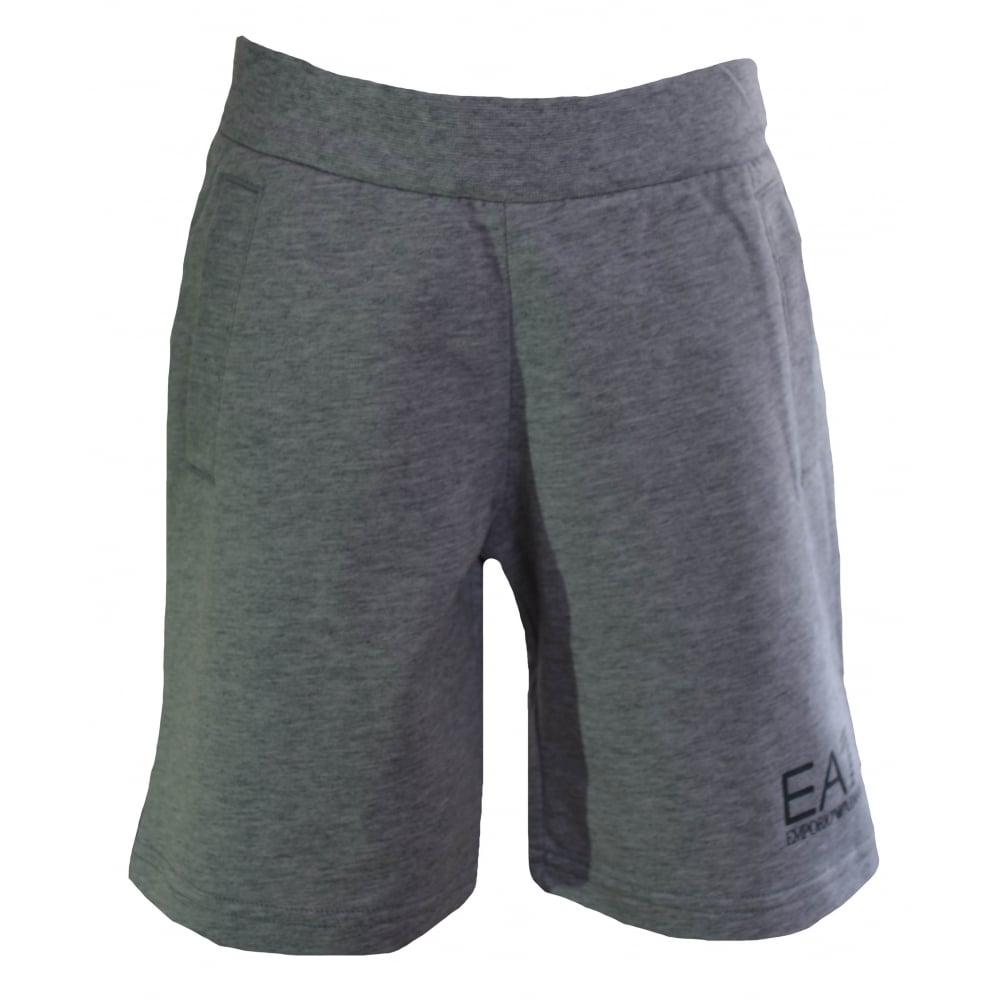 d33258fcf16e2 EA7 Kids Grey Cotton Shorts