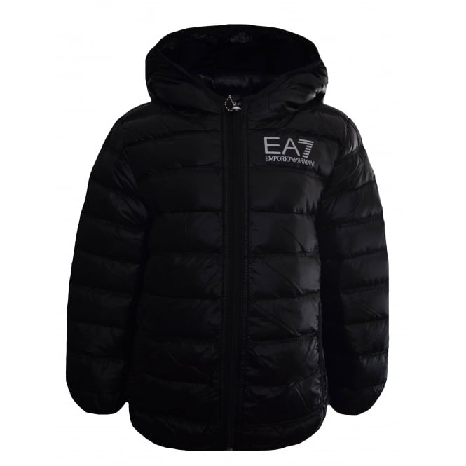 EA7 Kids Black Down Jacket