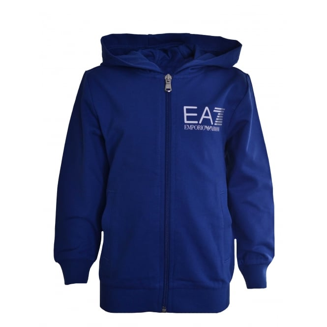 EA7 Kids Blue Hooded Sweatshirt