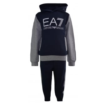 EA7 Kids Navy And Grey Tracksuit