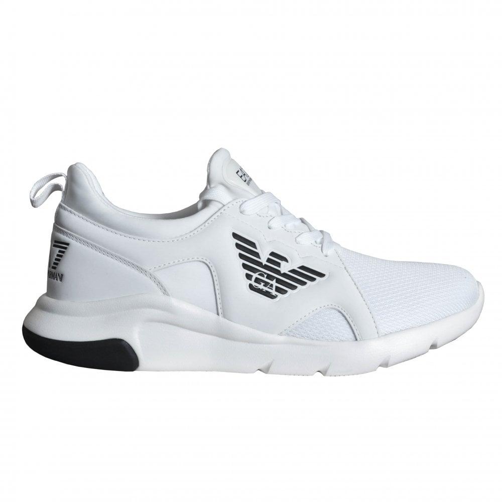 ea7 men's white trainers