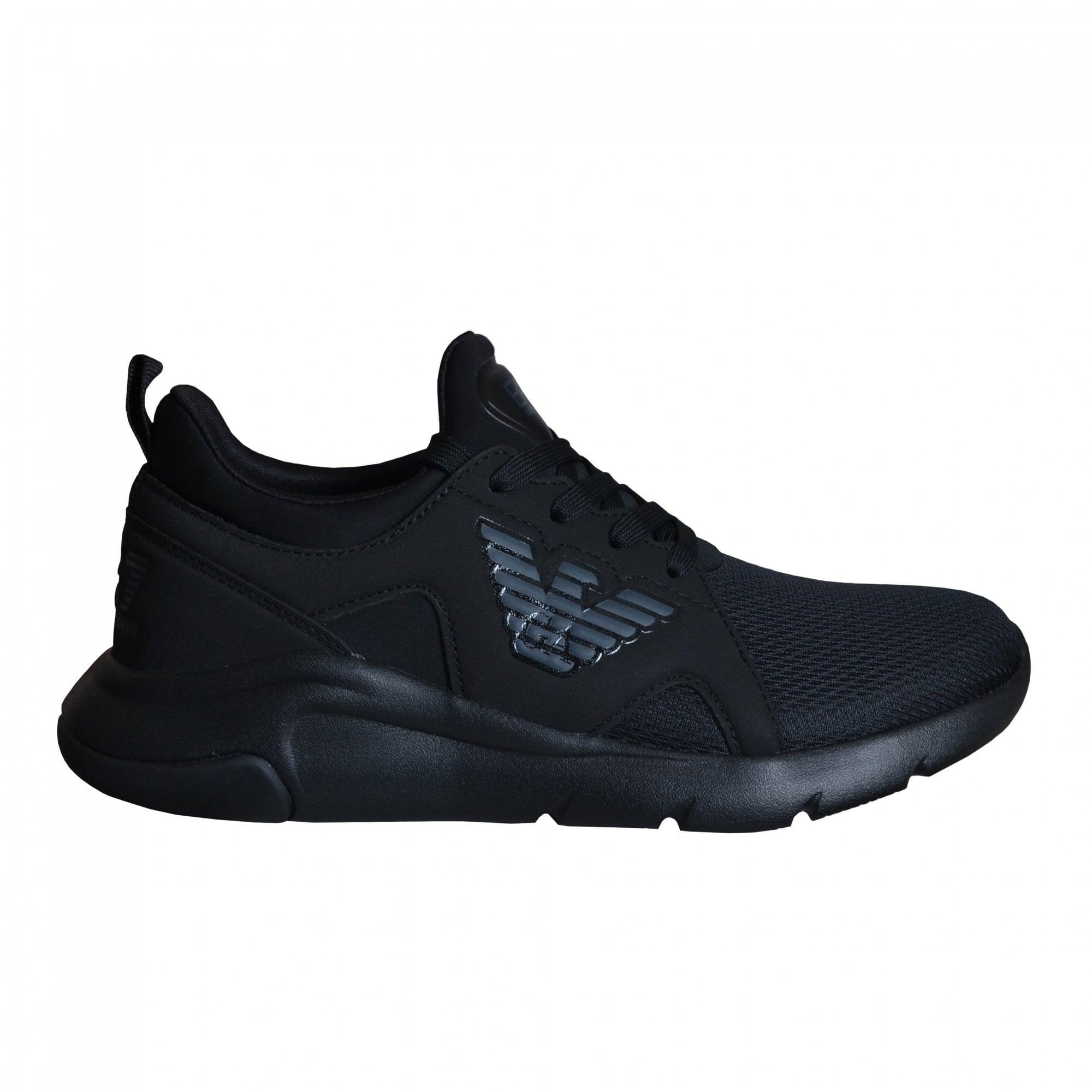 ea7 men's black trainers