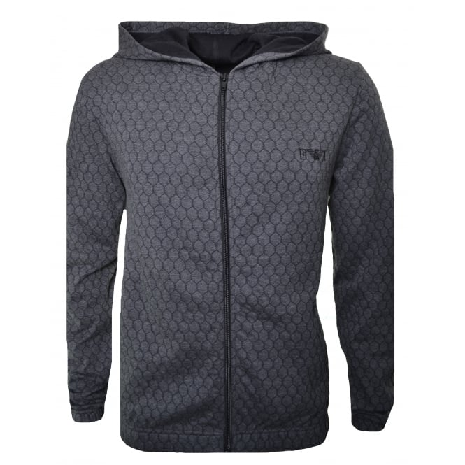 Emporio Armani Men's Grey Zip Through Sweatshirt