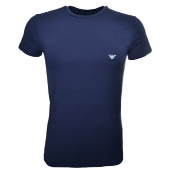 Emporio Armani Men's Navy Blue T-Shirt