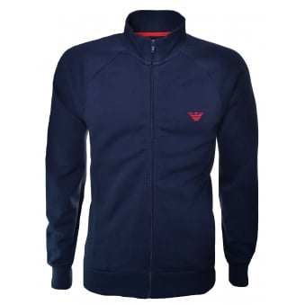 Emporio Armani Navy Blue Zip Through Sweatshirt