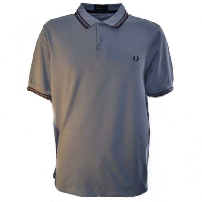 Fred Perry Light Smoke Tonic Tipped Slim Fit Polo Shirt