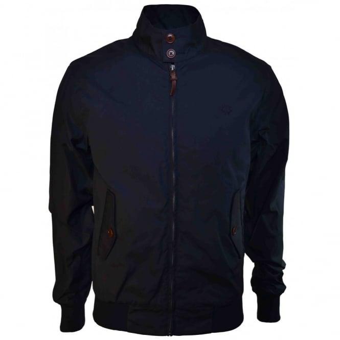 laatu ostaa erilaisia värejä Fred Perry Men's Navy Blue Waxed Cotton Harrington