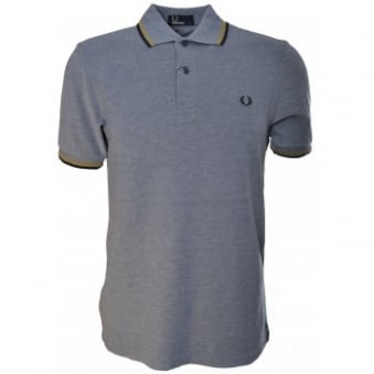 Fred Perry Indigo Oxford Twin Tipped Polo Shirt
