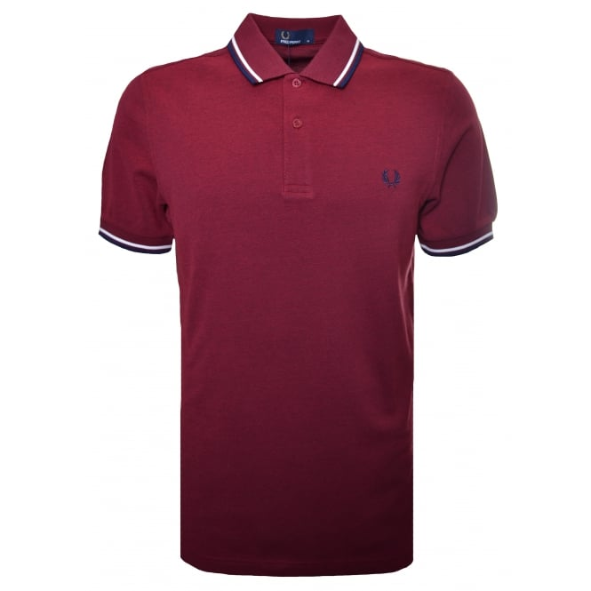 Fred Perry Men's Bramble Blood Oxford Polo Shirt