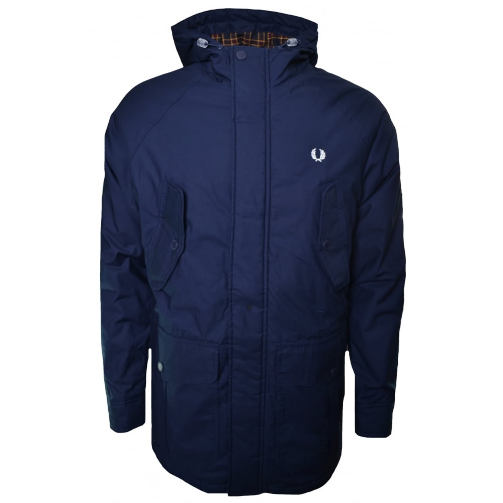 1b65717a9 Fred Perry Men's Bright Navy Portwood Parka