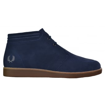 Fred Perry Men's Carbon Blue Southall Mid Boots
