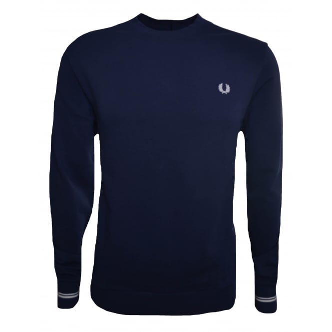Fred Perry Men's Carbon Blue Sweatshirt
