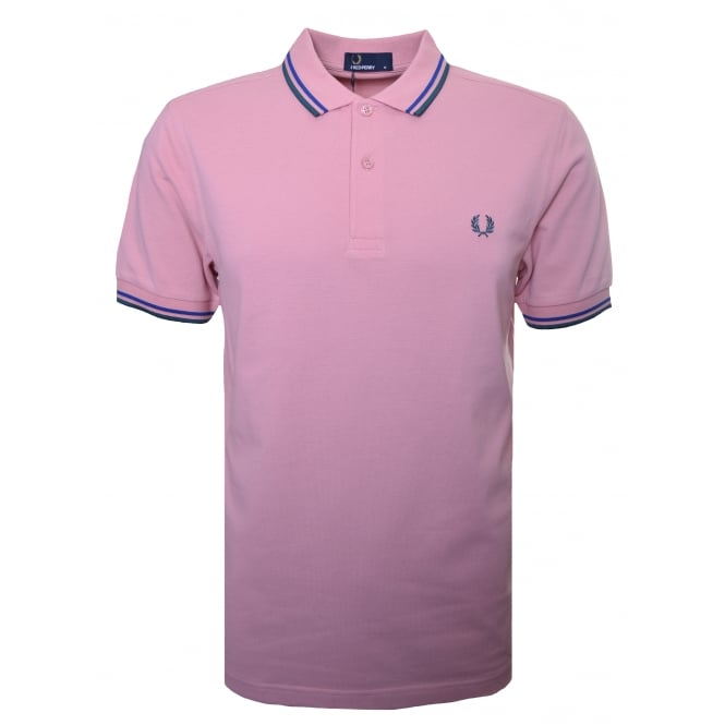 Fred Perry Men's Chalk Pink Polo Shirt