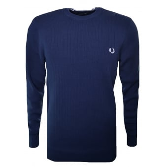 Fred Perry Men's Dark Carbon Textured Rib Jumper