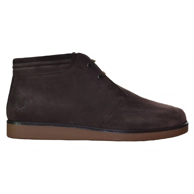 Fred Perry Men's Dark Chocolate Southall Mid Boot