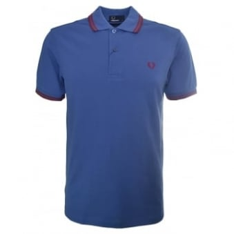 Fred Perry Men's Dusk Blue Twin Tipped Polo Shirt