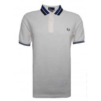 Fred Perry Men's Ecru Bold Tipped Pique Polo Shirt
