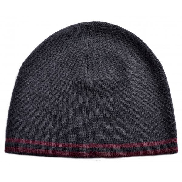 3a6033e728c men s fred perry navy and burgundy twin tipped beanie