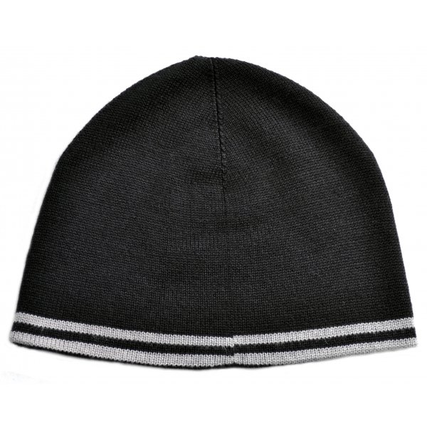 ad546f7bfd1 men s fred perry black and steel grey twin tipped beanie