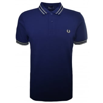Fred Perry Men's French Navy Tramline Polo Shirt