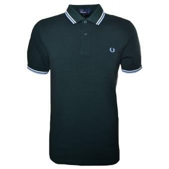 Fred Perry Men's Ivory Black Oxford Twin Tipped Polo Shirt