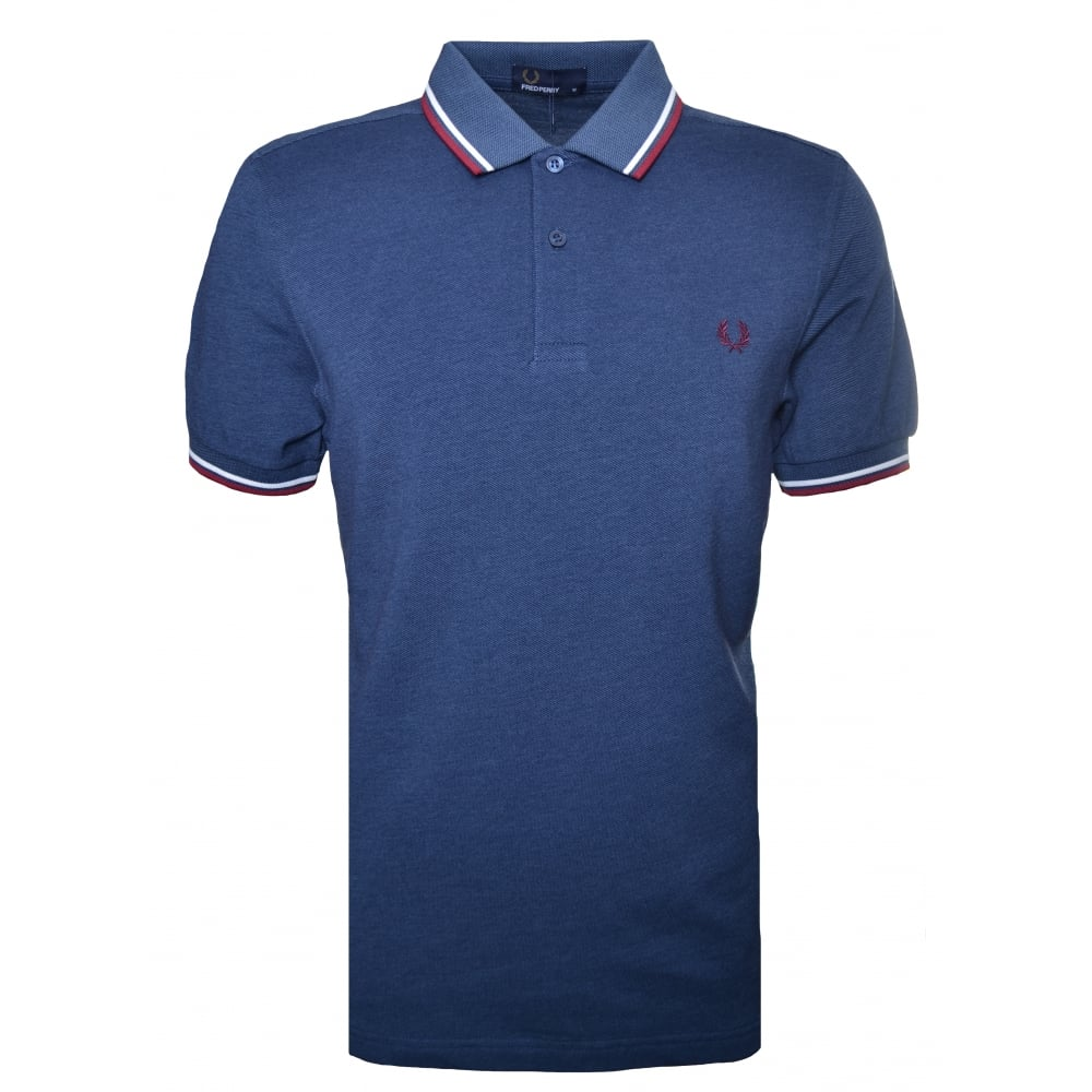 Fred Perry Mens Long Sleeve M3636 Twin Tipped Pique Polo Shirt