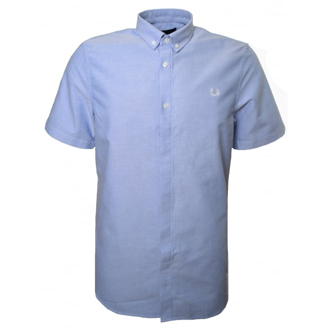 Fred Perry Men's Light Smoke Classic Oxford Short Sleeved Shirt