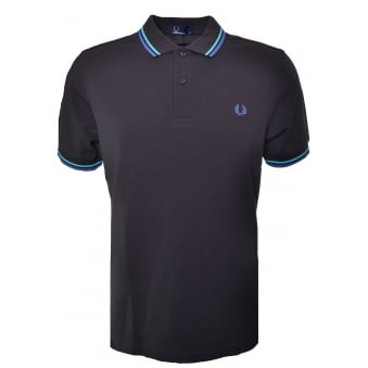 Fred Perry Men's Liquorice Twin Tipped Polo Shirt